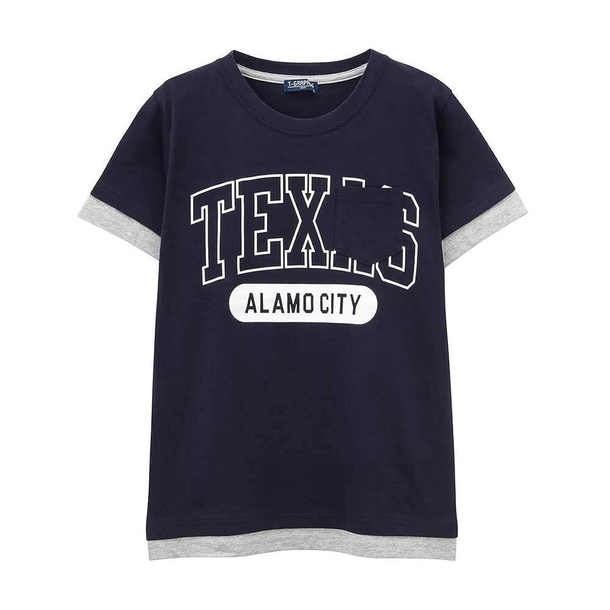 削除するベッドを作る見つけたT-GRAPHICS(ティーグラフィックス) ボーイズ ポケットTシャツ 子ども 男の子 半袖Tシャツ MH/TG742B キッズ