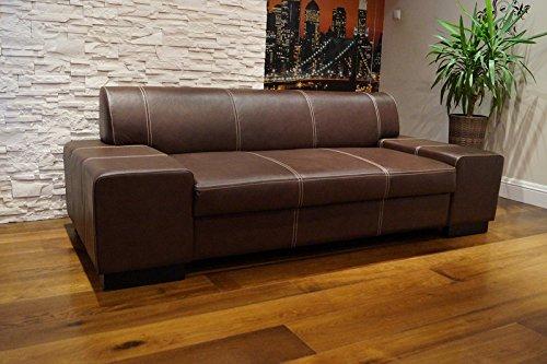 Quattro Meble lederen 2,5 zits bank London breedte 220 cm lederen bank echt leer grote keuze aan kleuren !! !