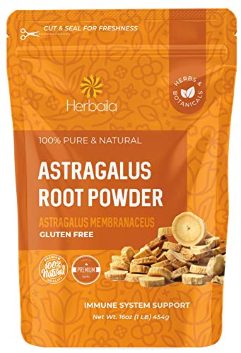 Astragalus Root Powder, 1 Pound. Astragalus Powder, Supports Immune Vitality, Astragalus Root Extract Powder in Resealable Bag, Raw, Gluten Free, All Natural, Non-GMO.