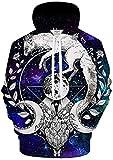 Moon Child Blanket 3D Galaxy Print Hoodie Hombres Camisa de Entrenamiento Casual Chándal Pullover Animal Hoodie Otoño
