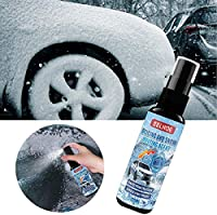 Frosty Glass Deicer,Automotive Glass Deicer Winter Snow Removal Liquid Snow Melting Agent,Free A Snow|ice Removal Shovel For Car 2*100ML