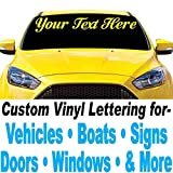 1060 Graphics 4' high Vinyl Lettering - for Car, Truck, Boat, Sign, Door, Window, Banner, Windshield, Auto (Custom Made Decal Sticker) Letters & Numbers