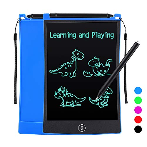 Tesoky Kids Writing Tablet with LCD Screen 8.5 inch Drawing Tablet and Doodle Board Kids Learing Toys for Boys Kids Age 3-8 Best Birthday Gifts for Boys Girls Kids Age 3-8 (Blue)
