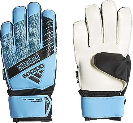 adidas Predator Top Training Fingersave Junior - Guantes de Portero para niños, Color Azul Brillante y Negro, 5