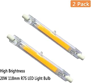 EBD Lighting 118mm 15W R7S LED Bulb (2 Pack) 150W Halogen Equivalent 118mm J-Type High Brightness 15W 120V R7S Base 6000K Daylight White J Type T3 118mm Double Ended Flood Light 360°Beam Angle Landsca