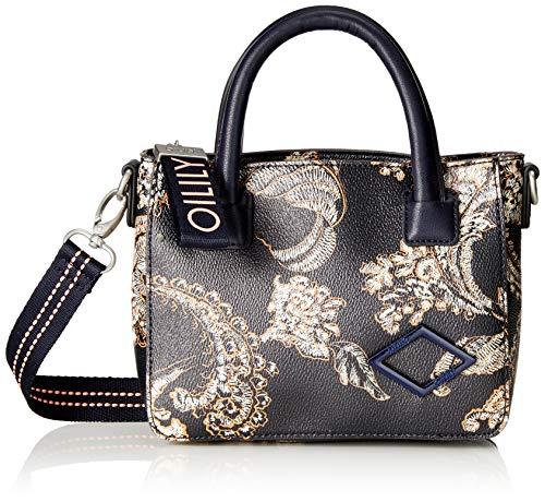 Oilily Damen Jolly Handbag Xshz Henkeltasche, Blau (Dark Blue), 7x16x20 cm
