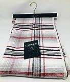 Lauren Tartan Plaid Brushed Cotton Throw Blanket 54' x 72' - Red Black Ivory Gray