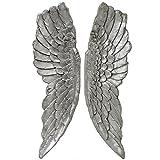 Enorme 1Metre par plata envejecida colgante alas de ángel decoración