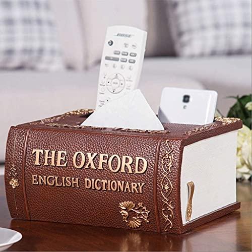 Mini pudełko na biżuterię Organizer Faux Leather kreatywny domowy stolik kawowy do salonu schowek na pilota wielofunkcyjny schowek na biurko Retro kartonowe pudełko na serwetki kartonowe pud