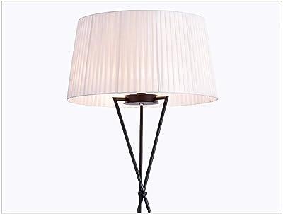YUAN MA ホームデコレーションフロアランプ 三脚フロアランプ - ホワイトシェードと金属光でリビングルームのための近代的な縦型照明やベッドスタンド - フットスイッチE27 モダンなスタンディングライト- (色 : B)