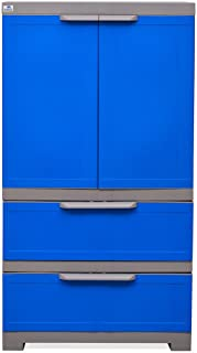 90bdff530b9 Nilkamal Freedom FMDR 2B Plastic Storage Cabinet with 1 Drawer (Deep Blue    Grey)
