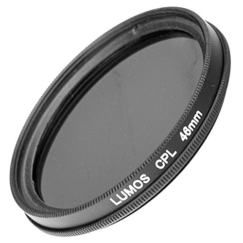 LUMOS Premium Polarisationsfilter - 46mm – Lichtdurchlässiges Glas – 2-teilige Metallfassung - Polfilter 46 mm– schlankes Slim Design