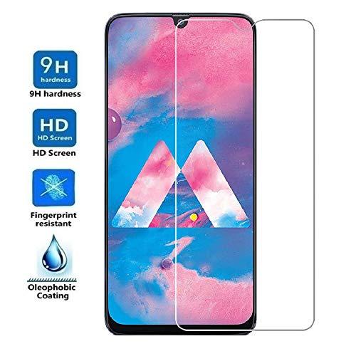 REY Protector de Pantalla para Samsung Galaxy M30 - A50 - A30 - A20 - A50s - A30s - M30s - M21 - M31, Cristal Vidrio Templado Premium