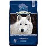 Blue Buffalo Wilderness High Protein Grain Free Natural Senior Dry Dog Food, Chicken 24-lb