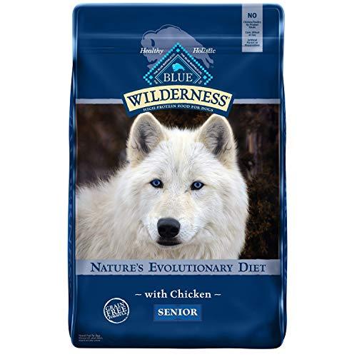 Blue Buffalo Wilderness High Protein, Natural Senior Dry Dog Food, Chicken 11-lb