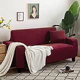 Funda Cubre Sofá,Granos de maíz blanco Juegos de sofás Con funda de almohada Alta elasticidad Fundas decorativas Puede usarse como 1 2 3 4 Plazas prueba de polvo Anti arrugas(Size:2 Seater,Color:D)
