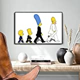 Kunst poster Wohnkultur Die Simpson Familie Leinwand
