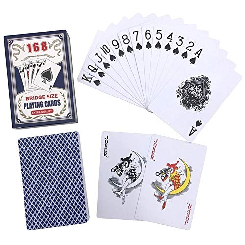 TX GIRL Kunststoff Wasserdicht Poker Set PVC Spielkarten Brücke Baccarat-Karte Texas Hold\'em Brettspiel 2,28 * 3,46 Zoll (Color : 1 Red Deck)