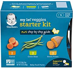 Gerber Purees My 1st Vegetables, Box of 6 2 Ounce Tubs (Pack of 2)