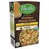 Pacific Foods Organic Bone Broth Chicken Noodle Soup, 7g Protein per Serving, Flavorful and Nutritious, 1.1 Pound (Pack of 12)