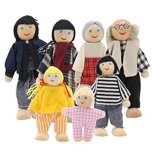 Homo Trends Casas de muñecas, juegos de 7 piezas, muebles d