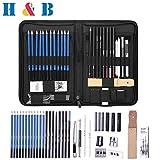 H&B 40 Stück Professionelle Skizzierstifte Set Skizzieren Zeichnen Bleistifte Profi