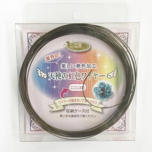 天使の虹色WIRE 収納ケース付 オリーブ 0.6mm×8m