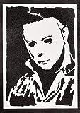 Póster Halloween Michael Myers Grafiti Hecho a Mano - Handmade Street Art - Artwork