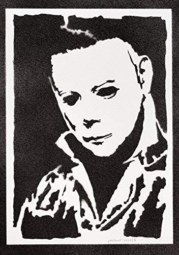 Halloween Poster Michael Myers Plakat Handmade Graffiti Street Art - Artwork