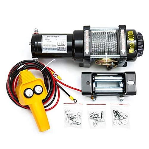 XZZ Cabestrante Electrico De 4500Ibs, Cable De Acero De 10 M, Cabrestante Eléctrico De...