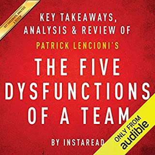 The Five Dysfunctions of a Team: A Leadership Fable, by Patrick Lencioni cover art