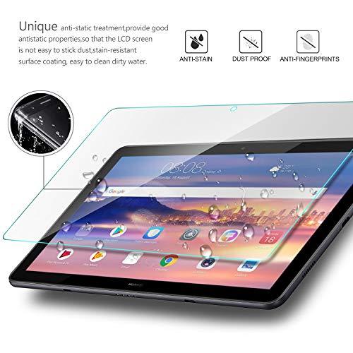IVSO Displayschutz für Huawei MediaPad T5 10, 9H Härte, 2.5D, Displayfolie Schutzglas Displayschutz Für Huawei MediaPad T5 10 10.1 Zoll 2018 Modell, (1 x)