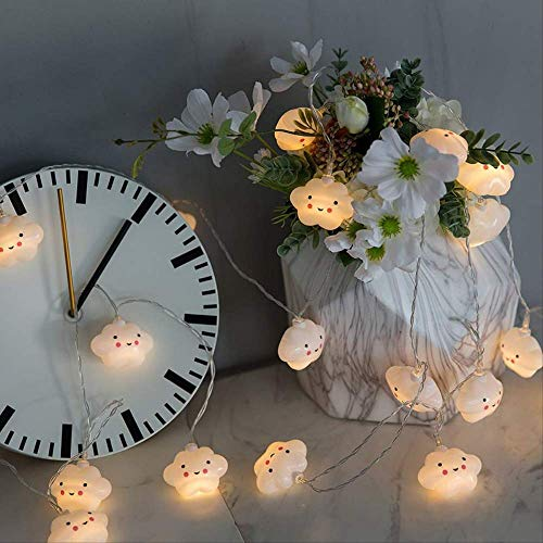 CFLFDC lichtsnoer, LED, kleur flash, smiley-licht, lamp, ketting, wolk, lamp, decoratieve lamp (Yu Mengyun), 2 m, 10 USB-batterij, licht (dubbel gebruik)