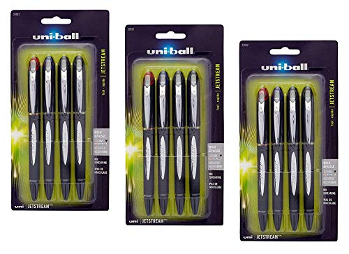 uni-ball Jetstream Ballpoint Pens, Bold Point (1.0mm), Assorted Colors, 12 Count