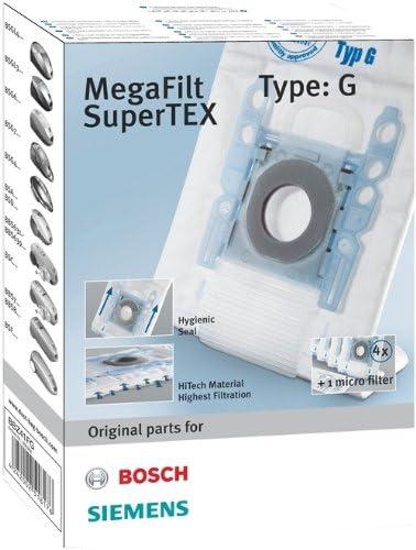 Bosch MegaFilt SuperTex Type G - Bolsas de recambio para aspiradoras - 4 unidades: Amazon.es: Hogar