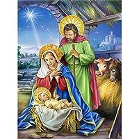 ダイヤモンド絵画DIY5dダイヤモンド刺繡イエス聖母マリアギフト子供寝室の装飾