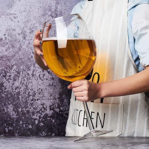 JUANstore Vino De Gran Tamaño Enorme Vaso De Cerveza De Cristal Spoof...
