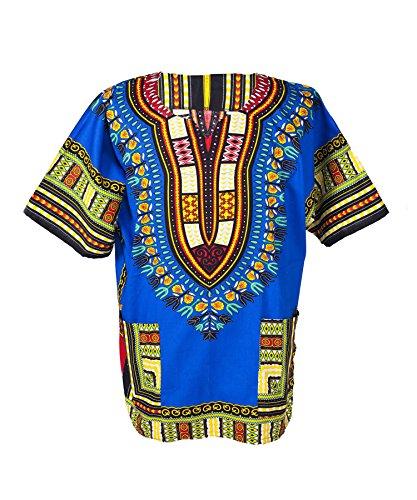 Lofbaz Unisex Dashiki Stampa Tradizionale Africana Hippy Boho XS Dark Blue