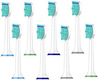 Electric Toothbrush Replacement Heads, (8Pack) Compatible with Philips Sonicare Brush Heads DiamondClean, 2 Series Plaque Control, 3 Series Gum Health, HealthyWhite, FlexCare, EasyClean