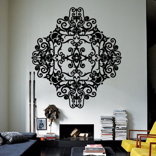 STICKERSFORLIFE Wall Decor Vinyl Sticker Room Decal Ornament Mandala Tracery Lace Modern Art Deco Gothic Bedroom Abstract (S221)
