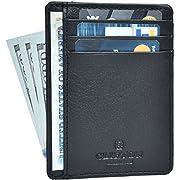 Clifton Heritage Front Pocket Minimalist Leather Slim Wallet RFID Blocking