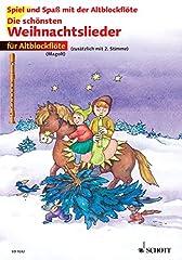 Die schönsten Weihnachtslieder: 1-2 Alt-Blockflöten