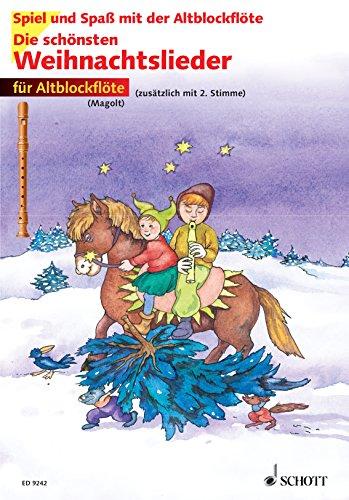 Schott Music Die schönsten Weihnachtslieder: 1-2 Alt-Blockflöten Bild