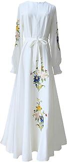 zhxinashu Women Dresses Princess Muslim Big Swing Long Skirt Party Wear Costume