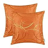 CaliTime Kissenbezüge Kissenhülle Pack von 2 Dekokissen Cases Schalen für Couch Sofa Home Decor...