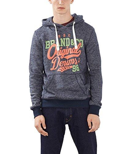 edc by ESPRIT Herren 996CC2J904 Sweatshirt, Blau (Navy 400), Medium