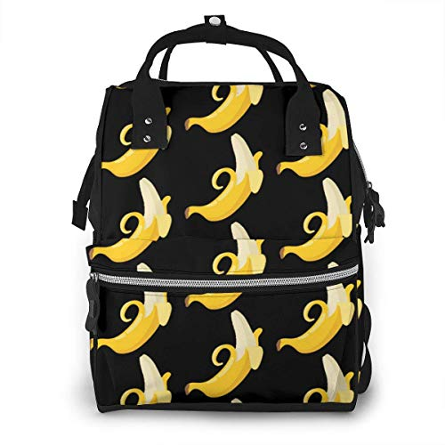 NHJYU Sac à langer, Large Capacity Waterproof Travel Ma-na-ger,baby Care Replacement Bag Versatile Stylish And Durable, Suitable For Mom And Dad,Banana Seamless Pattern
