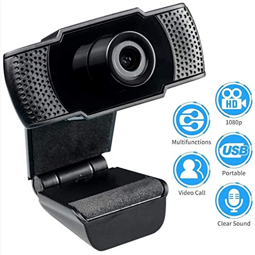 SMLZV Webcam with Microphone,HD 1080p Widescreen Web Cam with Microphone Flexible Rotatable Works with Skype,Zoom,FaceTime,Hangouts