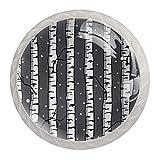Perillas redondas para aparador (4 piezas) – Colorido decorativo floral cajón manija decoración del hogar Hardware Pull Pomos, abedules