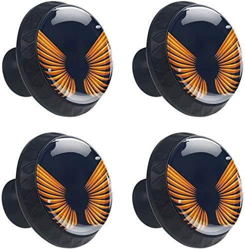 4 Pack Round Kitchen depot Cabinet Knobs Large discharge sale Pulls Wings 1-37 100